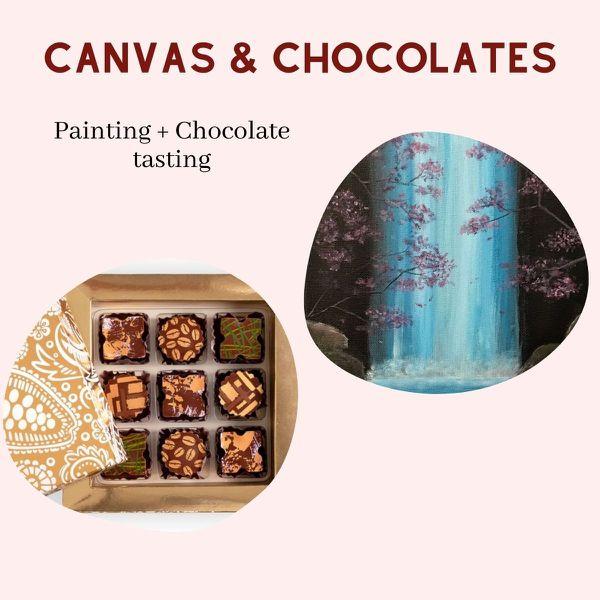 Virtual Painting & Chocolate Tasting Box service
