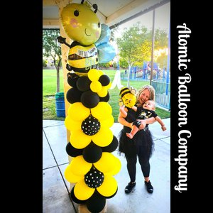 Hakim's First BEEday Celebration photo Atomic BEEday Birthday Balloon Decor 19.jpg