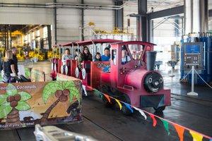 Weber Metals Grand Press Unveiling photo Train Tour at Weber Metals Grand Reveal Event.jpg