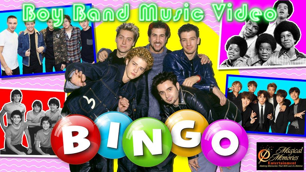 Music and Video Bingo: Boy Band Music Video Bingo.jpg