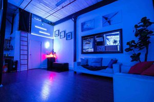 THAT Toronto Studio - Event Venue Rental photo Glowing-Lounge-Area-THAT-Toronto-Studio.jpg