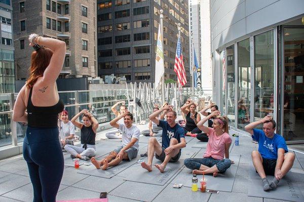 Corporate Happy Hour Yoga