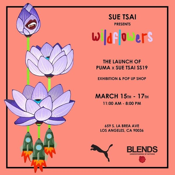 "Sue Tsai x Puma ""Wildflowers"" Opening cover photo"