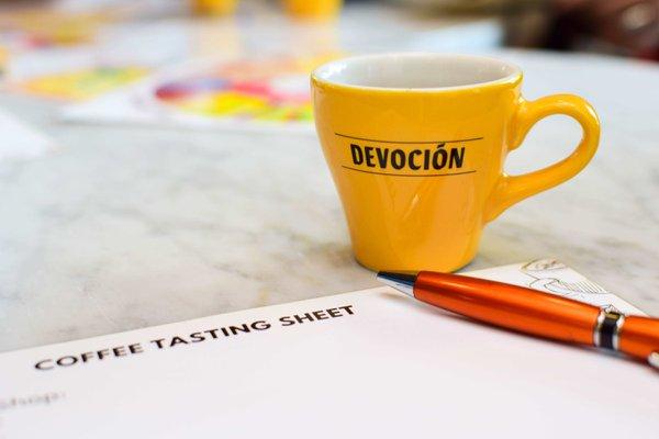 The Virtual Slurp! Coffee Tasting photo Tasting coffee on a workshop Flavors of Bogota.jpg