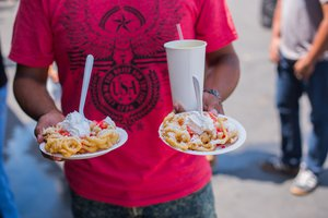 Weber Metals Grand Press Unveiling photo Funnel Cakes at Weber Metals Community Date.jpg