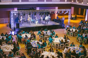 All-Hands Meeting for AltaMed photo Live Staged Band at Employee Luncheon.jpg