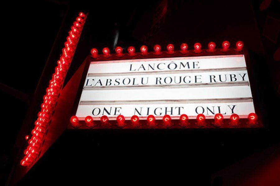 Lancôme L'Absolu Rouge Ruby Launch