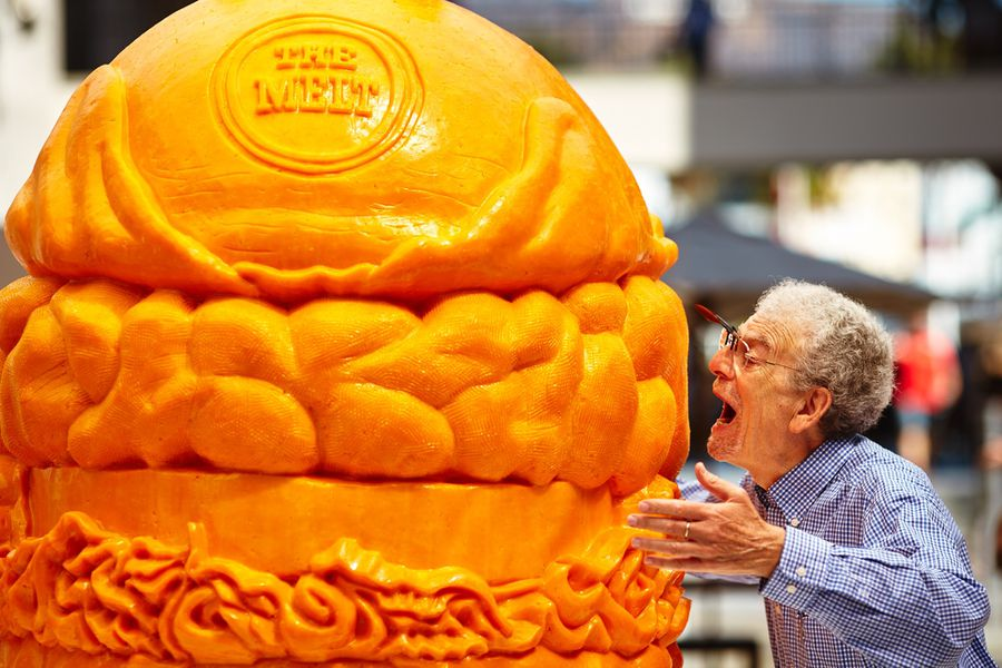 World's Largest Cheese Carving