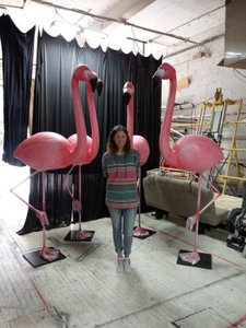 Oversized Flamingo Sculpts  photo Flamingo and me.jpg