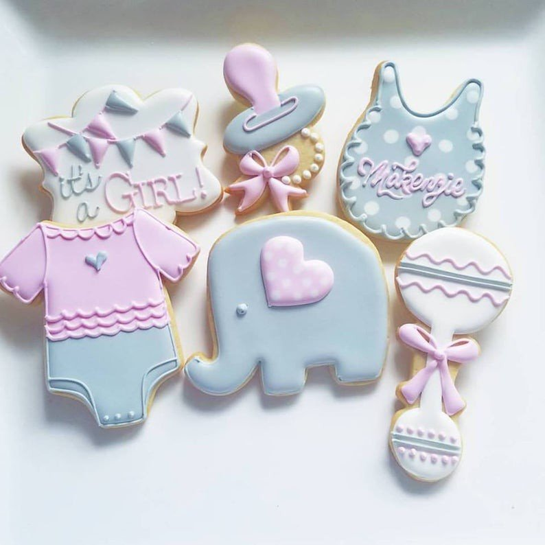 Custom Cookies for your special event! photo jill baby shower elephant.jpg