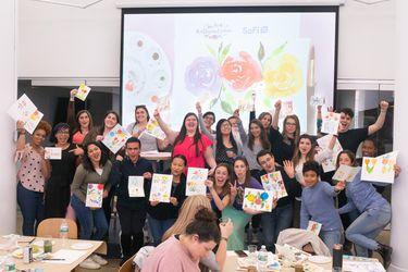 SoFi and Zola Watercolor Workshop