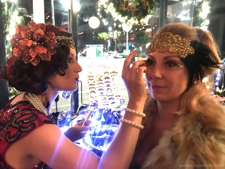 Gatsby themed Corporate party  photo GatsbyGlamStation_applygems_w.jpg