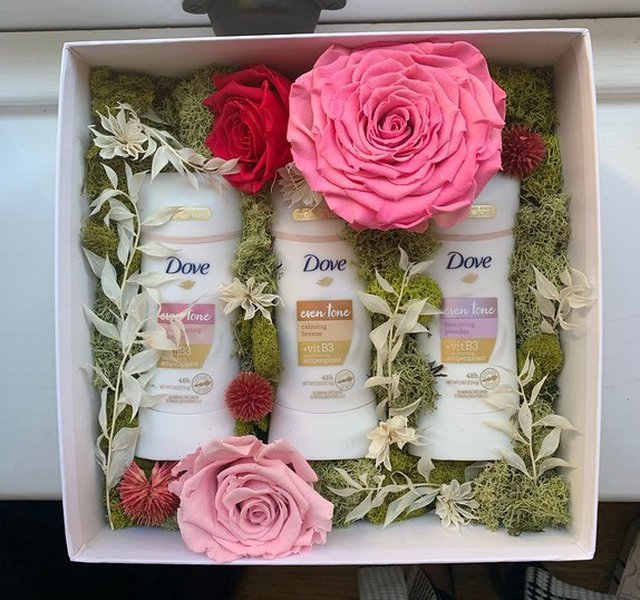 Virtual Event Boxes: dove-deodarant-with-flowers.jpg