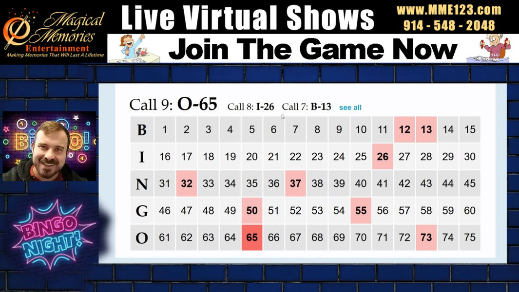 Virtual Video BINGO: Standard Bingo Livestream.jpg