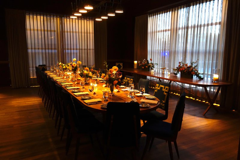 Hermès Meatpacking Opening Press Dinner photo Dining Room with Candles V2.jpg