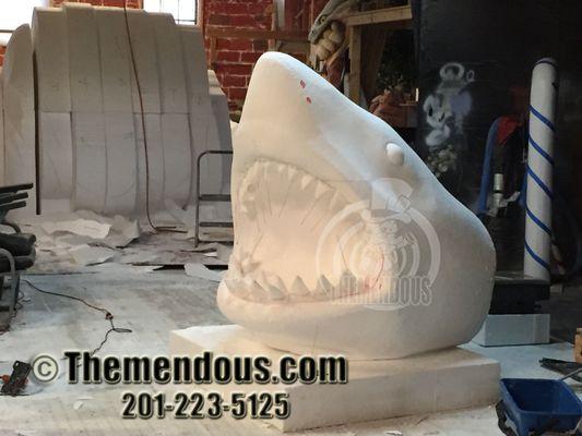 Foam Sculptures: Shark Progress 1.jpg