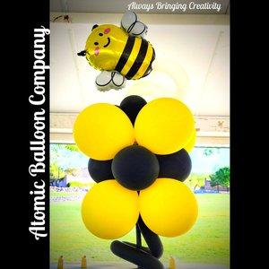 Hakim's First BEEday Celebration photo Atomic BEEday Birthday Balloon Decor 14.jpg
