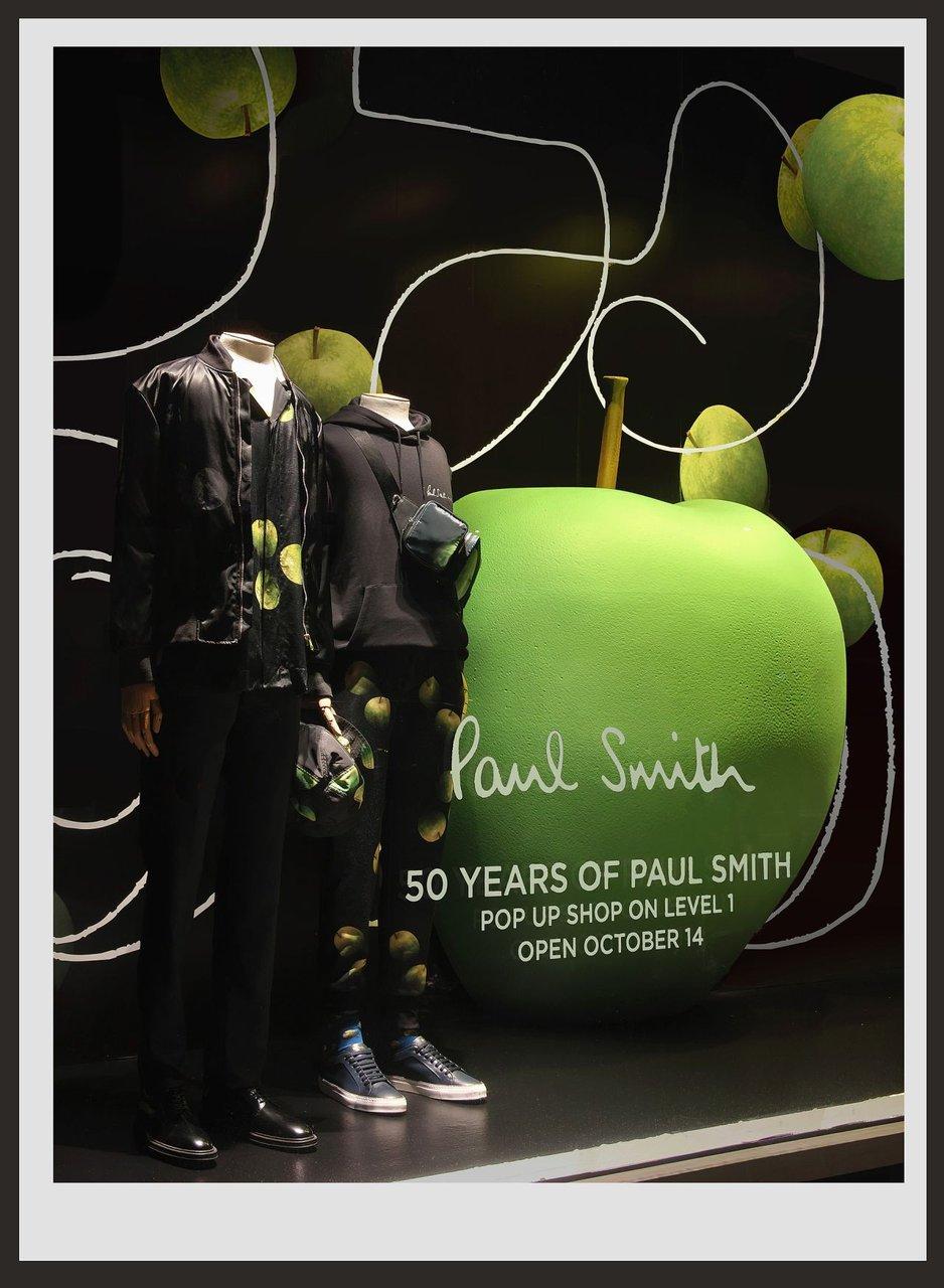 Bloomingdale's Window for Paul Smith  photo Paul Smith Apple Window Harlequin.jpg