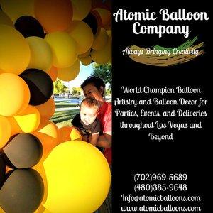 Hakim's First BEEday Celebration photo Atomic BEEday Birthday Balloon Decor 15.jpg