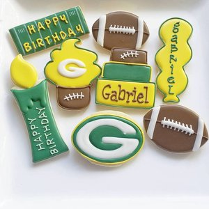 Custom Cookies for your special event! photo jill football green bay packers.jpg