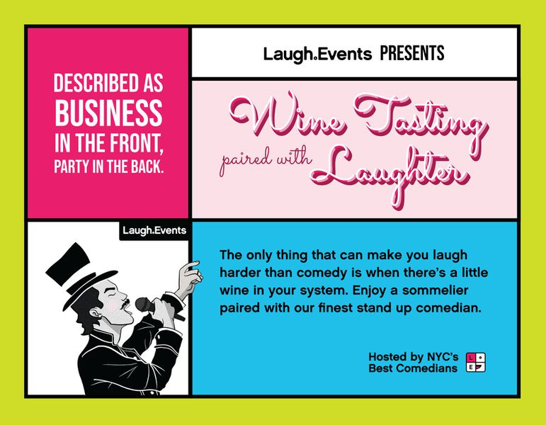 Wine Tasting Paired with Laughter service