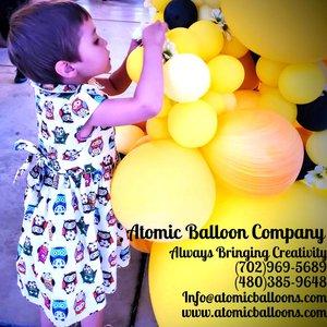 Hakim's First BEEday Celebration photo Atomic BEEday Birthday Balloon Decor 8.jpg