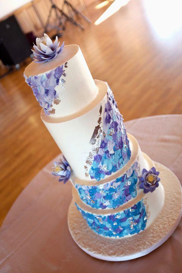 Water Lily Wedding Cake