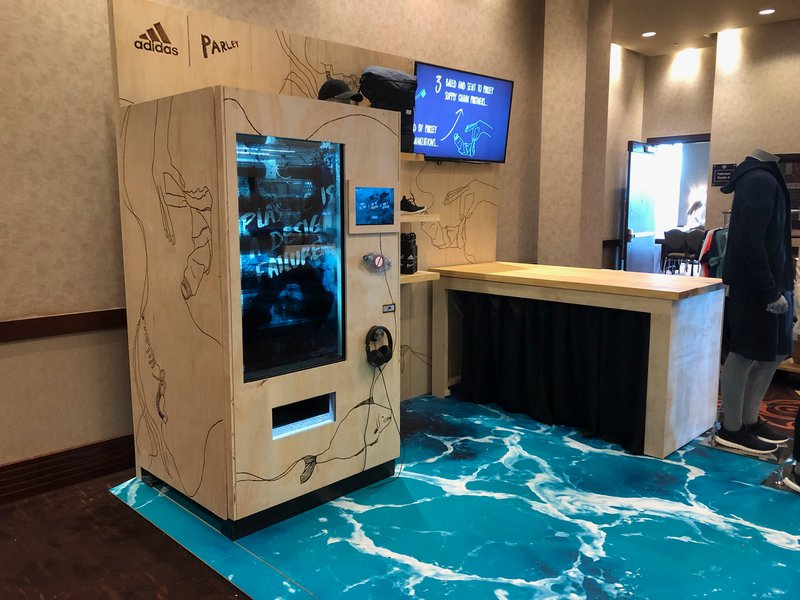 Adidas Parley Vending Machine