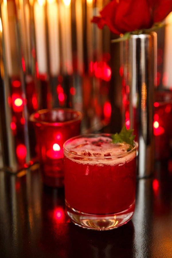 Couples Aphrodisiac Cocktails : Red Rocks Shiso garnish.jpg