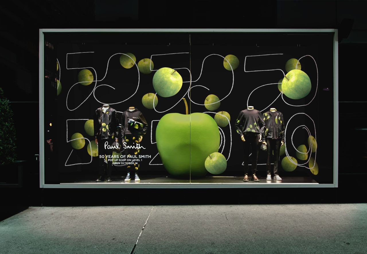 Bloomingdale's Window for Paul Smith  photo Paul Smith Apple Bloomingdales Window.jpg