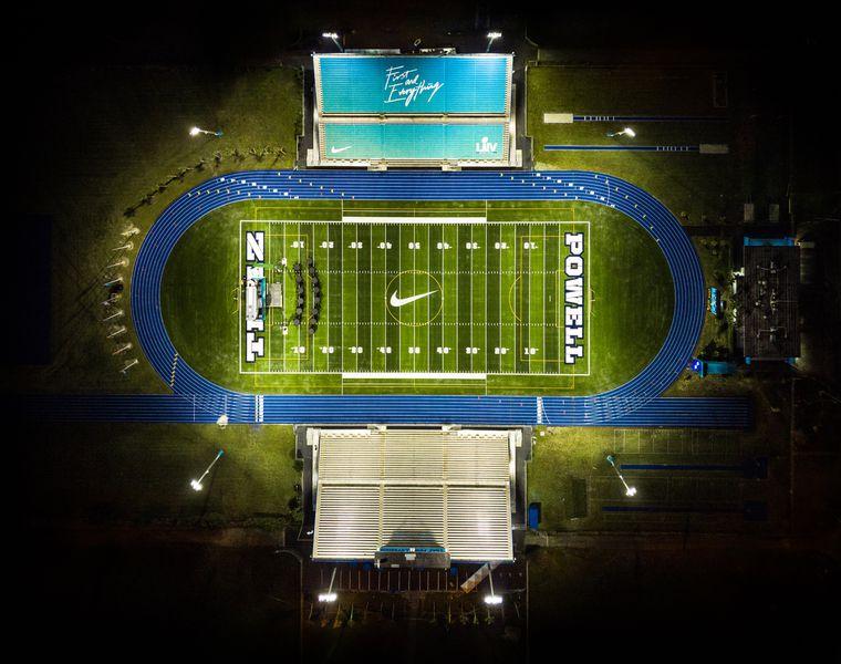 Super Bowl LIV \\ Traz Powell Stadium