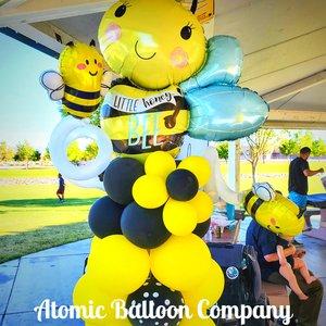 Hakim's First BEEday Celebration photo Atomic BEEday Birthday Balloon Decor 23.jpg