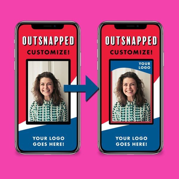 Virtual Photo Booths: OutSnapped Virtual Photo Boooth Customize Screen Iphone Mockup.jpg