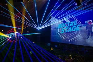 Social Suite + Social Stage photo yellow and blue lasers.jpg